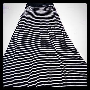 Super soft striped maxi